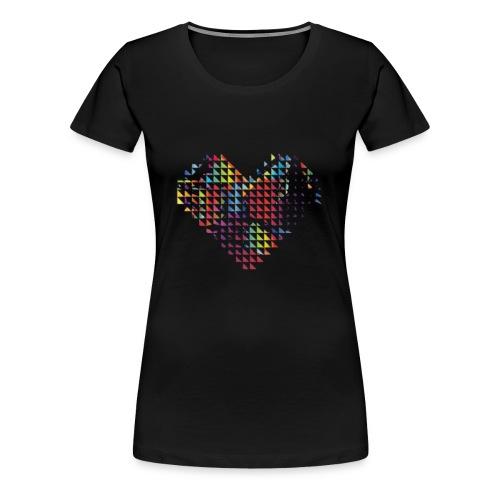 Dreicksherz - Frauen Premium T-Shirt