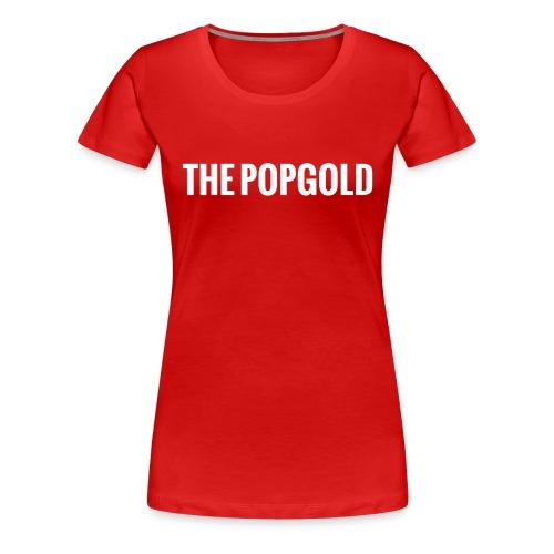 schrift white - Frauen Premium T-Shirt