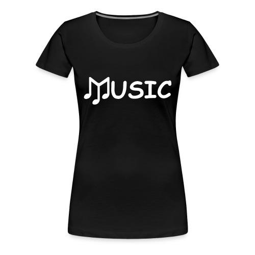 musictshirtdesignwhite - Women's Premium T-Shirt