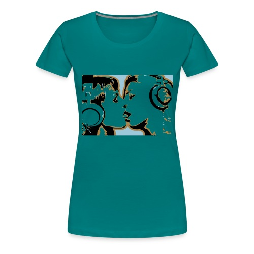 kissing - Women's Premium T-Shirt