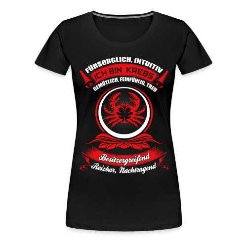 Krebs Sternzeichen Horoskop Geschenk - Frauen Premium T-Shirt