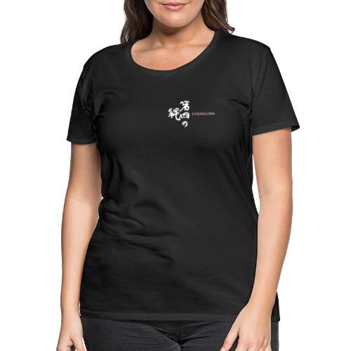 Calligraphy and logo La quarta corda (white) - Maglietta Premium da donna