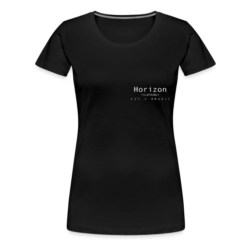 White Horizon Logo - Women's Premium T-Shirt