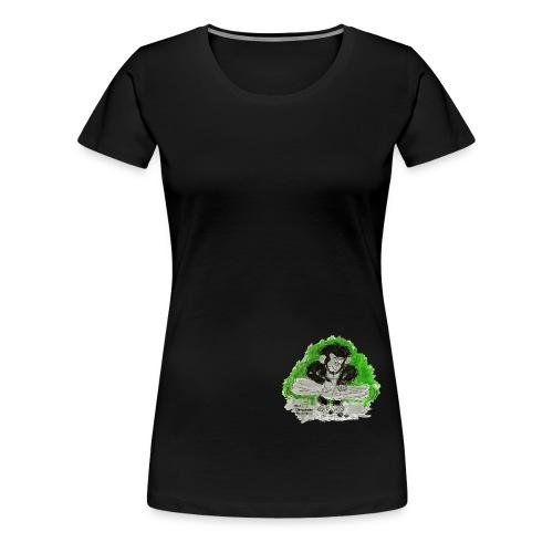 chimpanzee nut cracking - Women's Premium T-Shirt