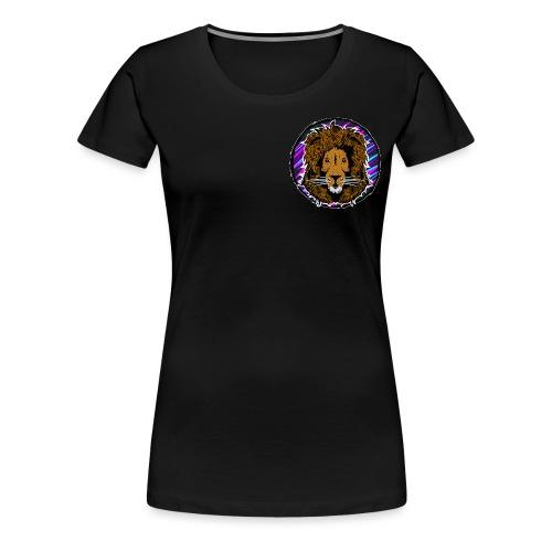 Neon Lion Womens Tee Small Image - Women's Premium T-Shirt