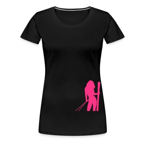 Skigirl - Frauen Premium T-Shirt