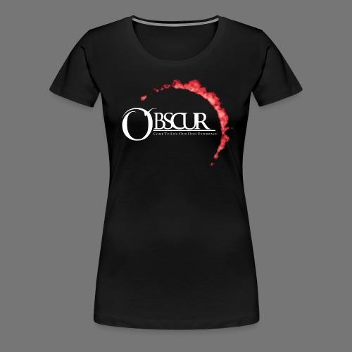 Grand Logo Eclipse Obscure - T-shirt Premium Femme