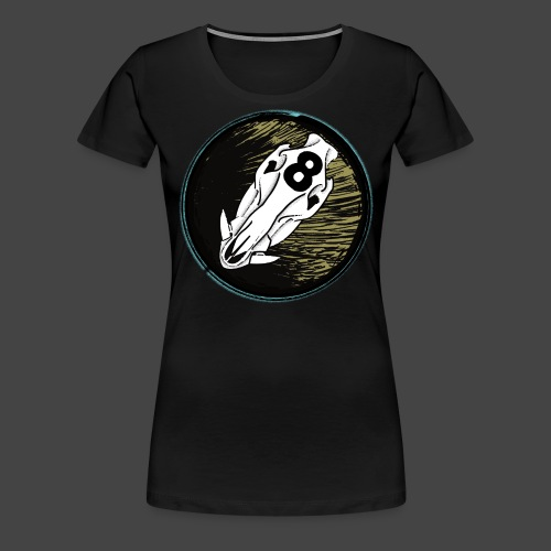skully eightball backbanner - Frauen Premium T-Shirt
