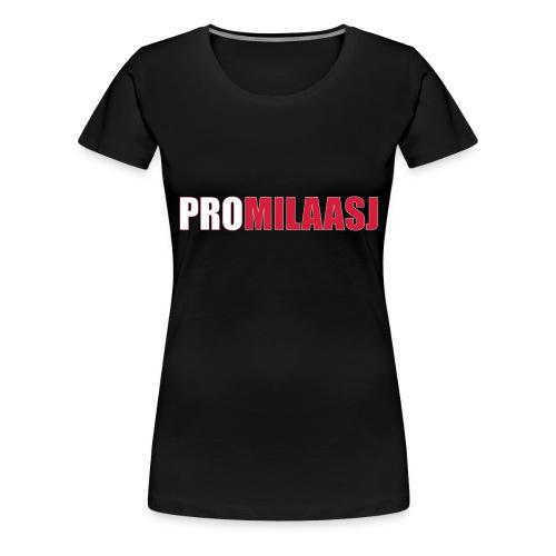 Promilaasj_tekst_logo - Vrouwen Premium T-shirt