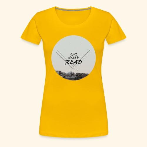 Eat, Sleep, Read - Premium-T-shirt dam