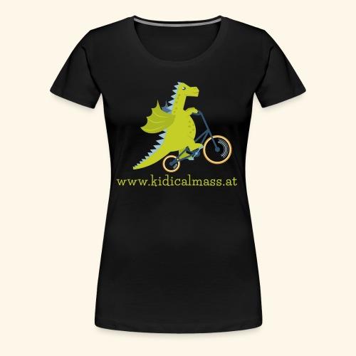 Musikdrache für dunklen Hintergrund - Frauen Premium T-Shirt