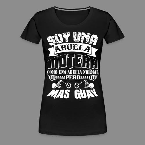Soy una abuela motera - Camiseta premium mujer