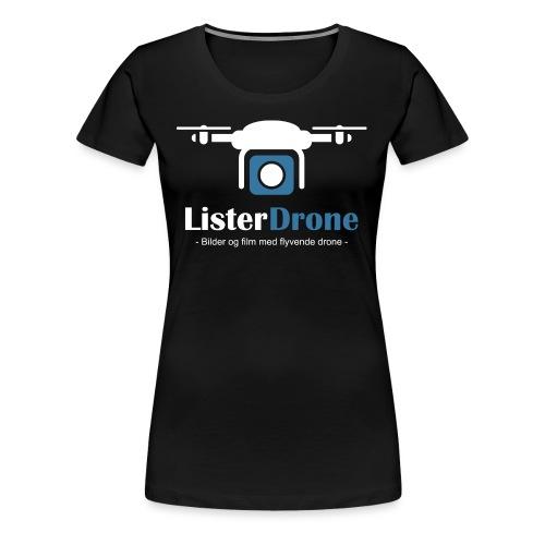 ListerDrone logo - Premium T-skjorte for kvinner