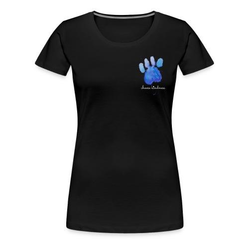 Tierfreund Choose Kindness Hundepfote Wasserfarben - Frauen Premium T-Shirt