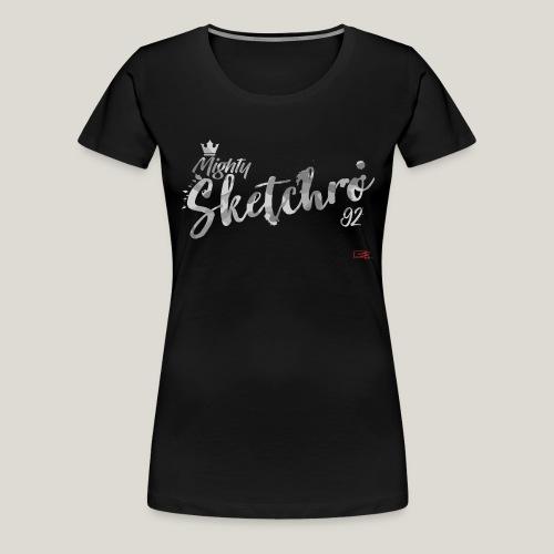 mighty sketchro white camo - Women's Premium T-Shirt