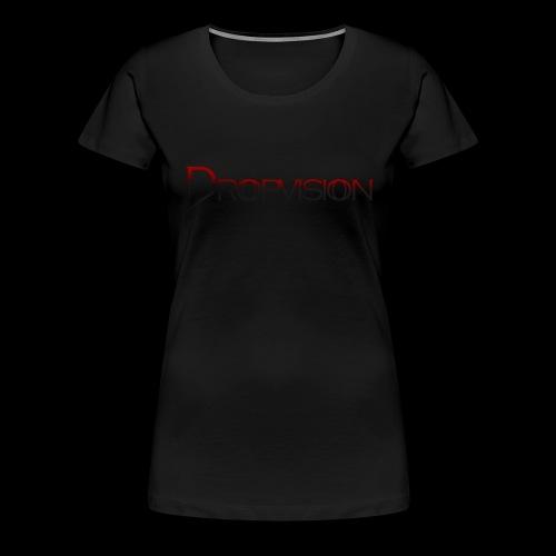 Dropvision logga röd - Premium-T-shirt dam