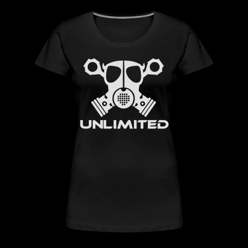 EPS Logo mit Schriftzug - Frauen Premium T-Shirt