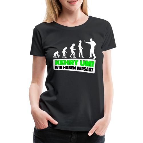 Evolution Klimaschutz Umweltschutz Demo Klimastrei - Frauen Premium T-Shirt