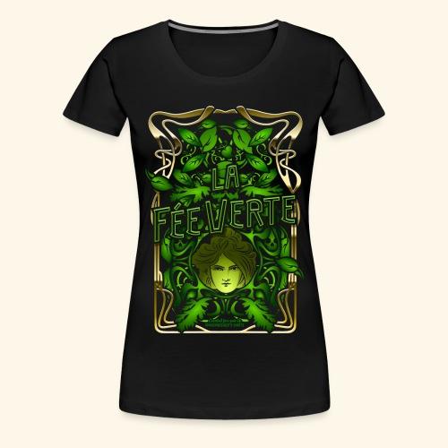 Absinth T Shirt Design La Fée Verte Art Nouveau - Frauen Premium T-Shirt