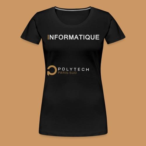 Motif Polytech jog info - T-shirt Premium Femme