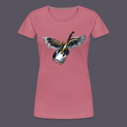 Greifvogel mitGitarrenbeute - Frauen Premium T-Shirt