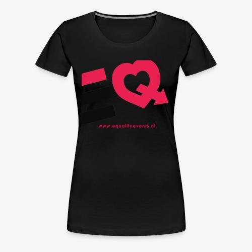 EQ schuin logo zwart - Vrouwen Premium T-shirt