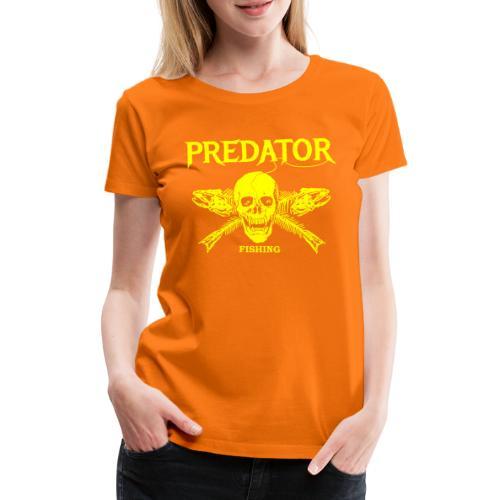 Predator fishing yellow - Frauen Premium T-Shirt