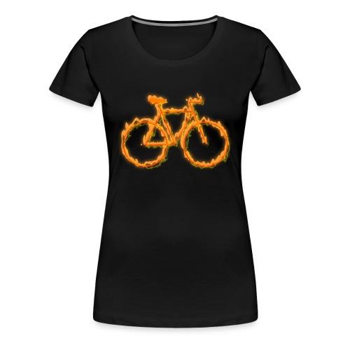 Fahrrad in Flammen - Frauen Premium T-Shirt