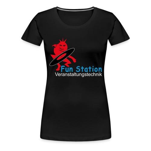 Funstation png - Frauen Premium T-Shirt