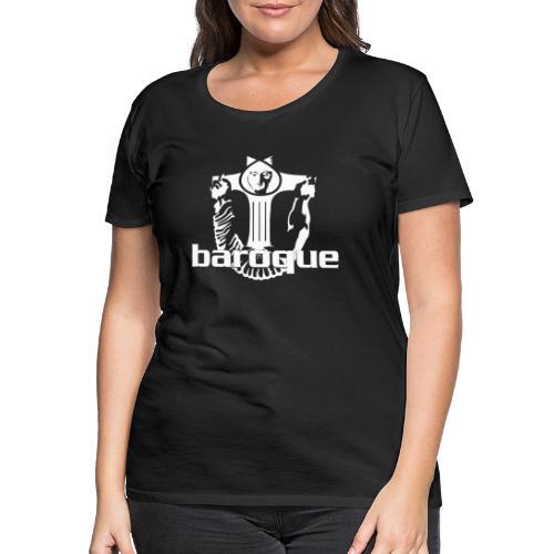 Baroque Records Logo Black - Frauen Premium T-Shirt