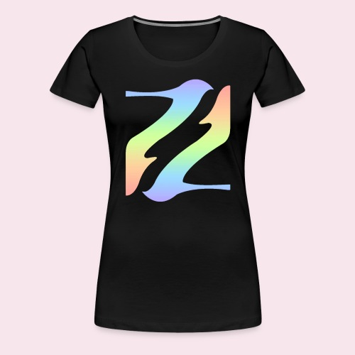 Pastel Rainbow Shoes - Dame premium T-shirt