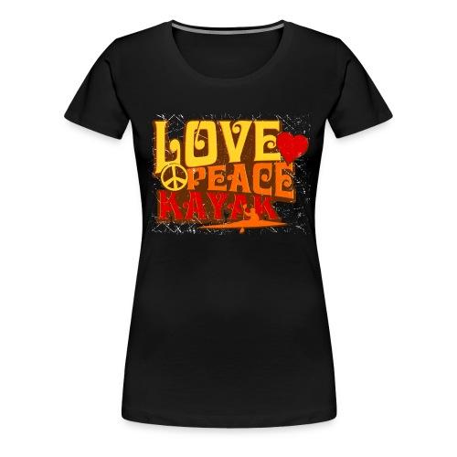Love Peace Kayak - Women's Premium T-Shirt