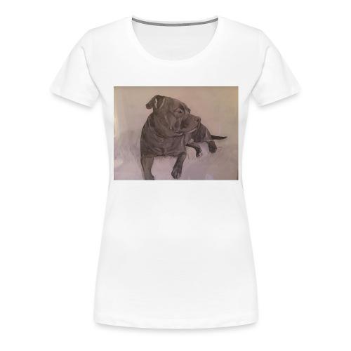 My dog - Premium-T-shirt dam