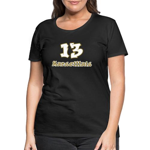 fier marseille blanc 03 - T-shirt Premium Femme