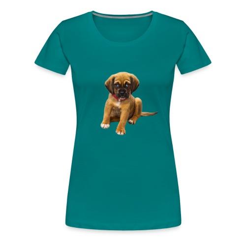 Süsses Haustier Welpe - Frauen Premium T-Shirt
