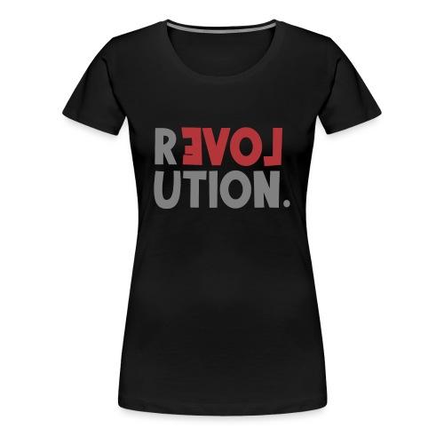Revolution Love Sprüche Statement be different - Frauen Premium T-Shirt