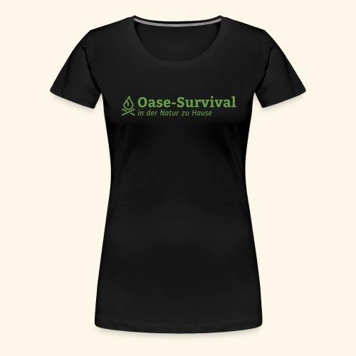 Oase-Survival Logo grün - Frauen Premium T-Shirt