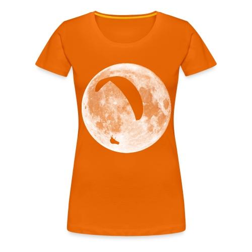 Paragleiter im Mond - Frauen Premium T-Shirt