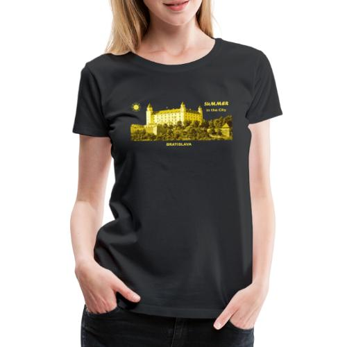 Summer Bratislava City Slowakei Burg Donau Sommer - Frauen Premium T-Shirt