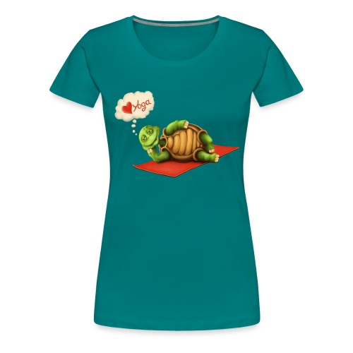 Love-Yoga Turtle - Frauen Premium T-Shirt
