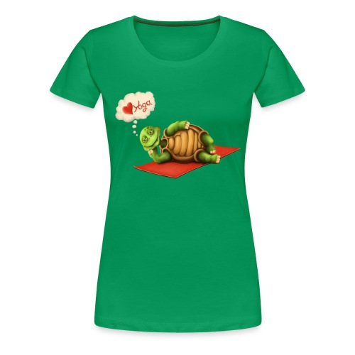 Love-Yoga Turtle - Frauen Premium T-Shirt