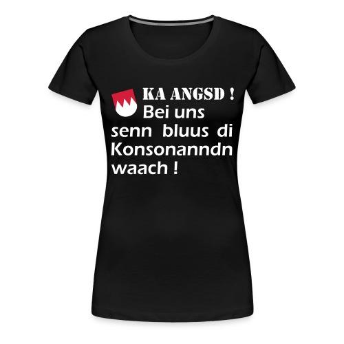ka-angsd_rot_weiss_klein - Frauen Premium T-Shirt