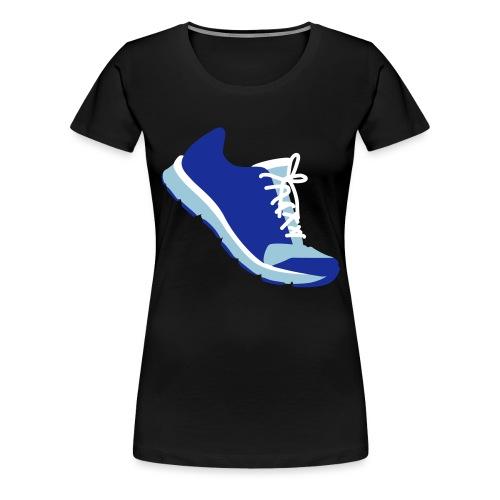Laufschuh - Frauen Premium T-Shirt