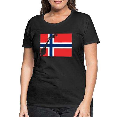 Norges Flagg - Frauen Premium T-Shirt