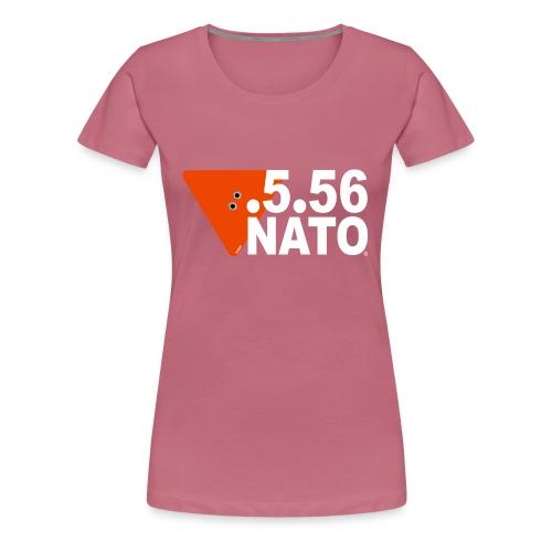 .5.56 NATO BLANC - T-shirt Premium Femme