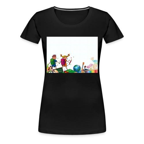 Fröhliche Schulkinder - Frauen Premium T-Shirt
