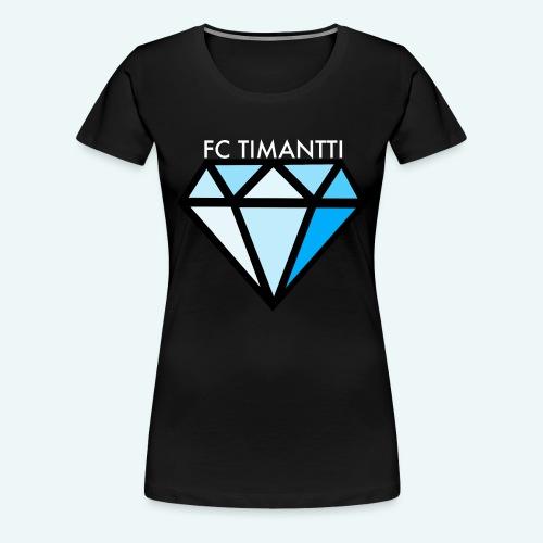 FCTimantti logo valkteksti futura - Naisten premium t-paita