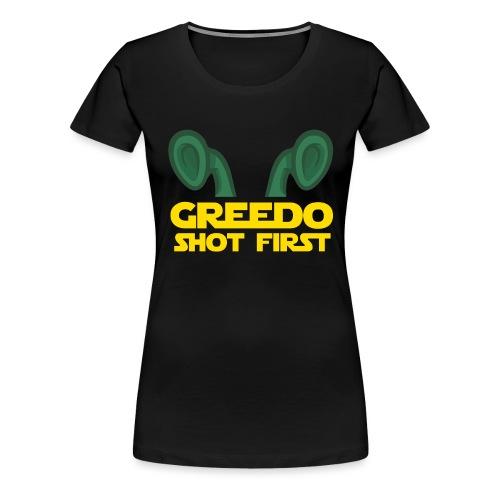 GreedoShotFirst 02 - Vrouwen Premium T-shirt