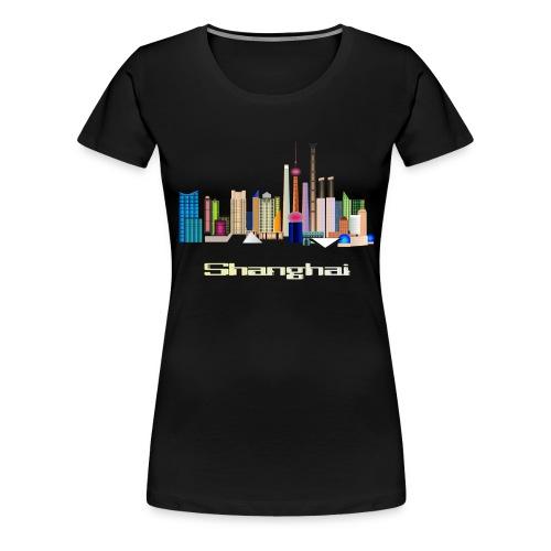 skyline Shanghai - Frauen Premium T-Shirt
