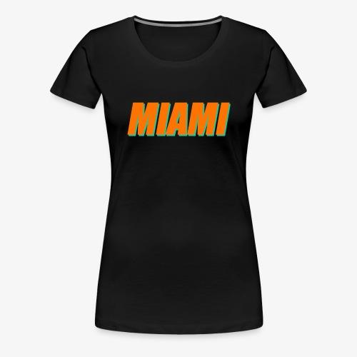 Miami Dolphins Football - Women's Premium T-Shirt